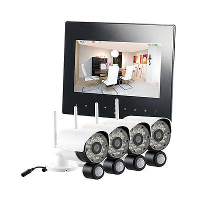 Überwachungsset: Digitales Überwachungssystem DSC-720.mc mit 4 HD-Kameras, IP