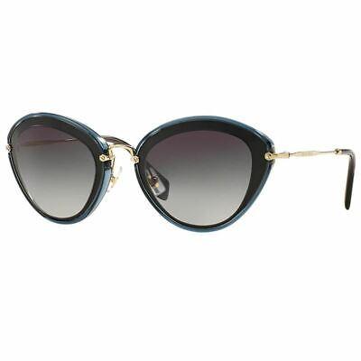 Miu Miu Sunglasses Women Black/Grey w/Grey Lens MU51RS-1AB5D1-52