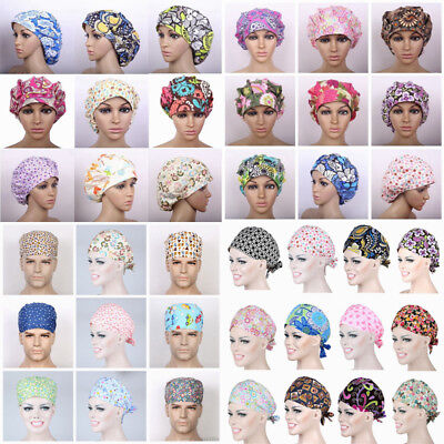Womens/Mens Doctor/Nurse Printed Cap Scrub Surgery Medical Surgical Hat/Cap ](Nurses Hat)