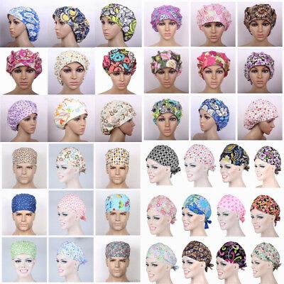 Womens/Mens Doctor/Nurse Printed Cap Scrub Surgery Medical Surgical Hat/Cap