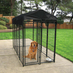 Large Welded Wire Dog Kennel (6'Hx4'Wx8'L) For Outdoors