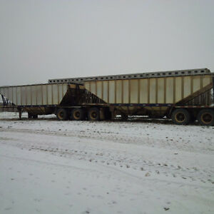 Super B Grain Trailer and CAT D7 Dozer for sale