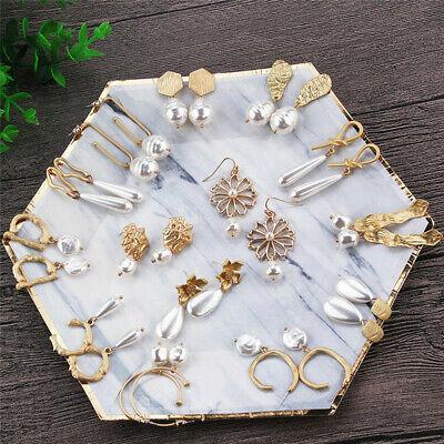 Geometric Gold Earrings (Gift Geometric Irregular Circle Baroque Pearl Earrings Metal Gold Drop)