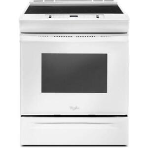 Whirlpool 4.8 cu. ft. guided Electric Front Control Range|Kitchen-Aid Ranges YWEE510S0FW guided Electric Front(BD-953)