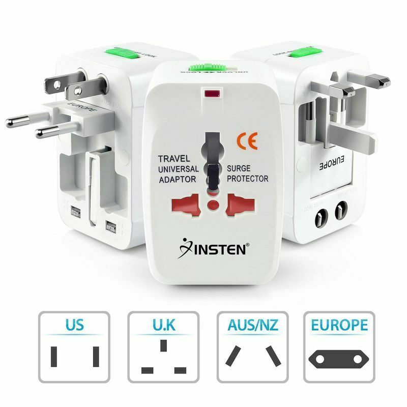 US to EU European and Universal AC Power Plug World Travel Adapter Converter