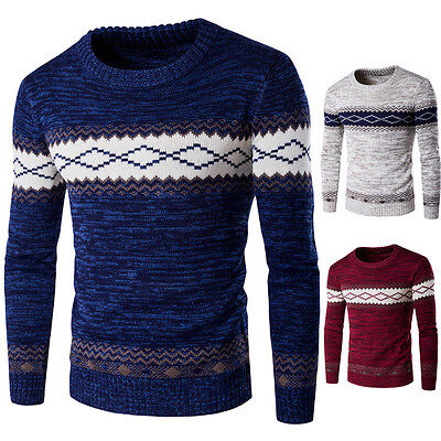 Men's Long Sleeve Knitting Sweater Pullover Pullover Winter Casual Sweater Tops