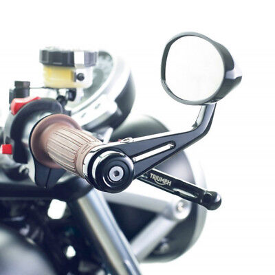 BLACK MOTORCYCLE 7/8 HANDLE BAR END MIRRORS FOR HONDA SUZUKI YAMAHA CAFE RACER