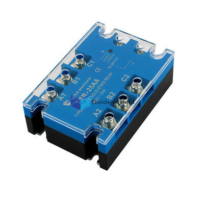 Tsr-25aa Three Phase Solid State Relay Module Ac Toac 80-280vac To 480vac 10amp.