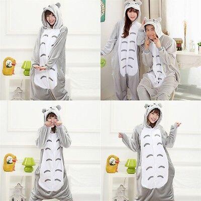 US Stock Adult Unisex Totoro Pajamas Kigurumi Cosplay Costume Animal Sleepwear - Adult Totoro Costume