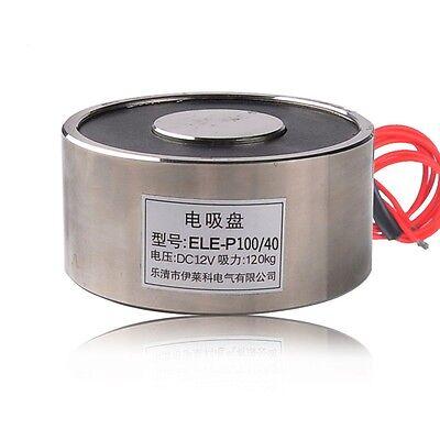 Dc12v 120kg 264lb Electric Lifting Magnet Holding Electromagnet Solenoid P10040