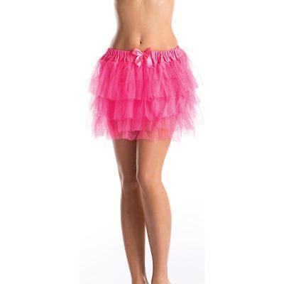 Pink Glitter Petticoat Skirt Tutu Dress For Teens Juniors Adult Women - One-Size