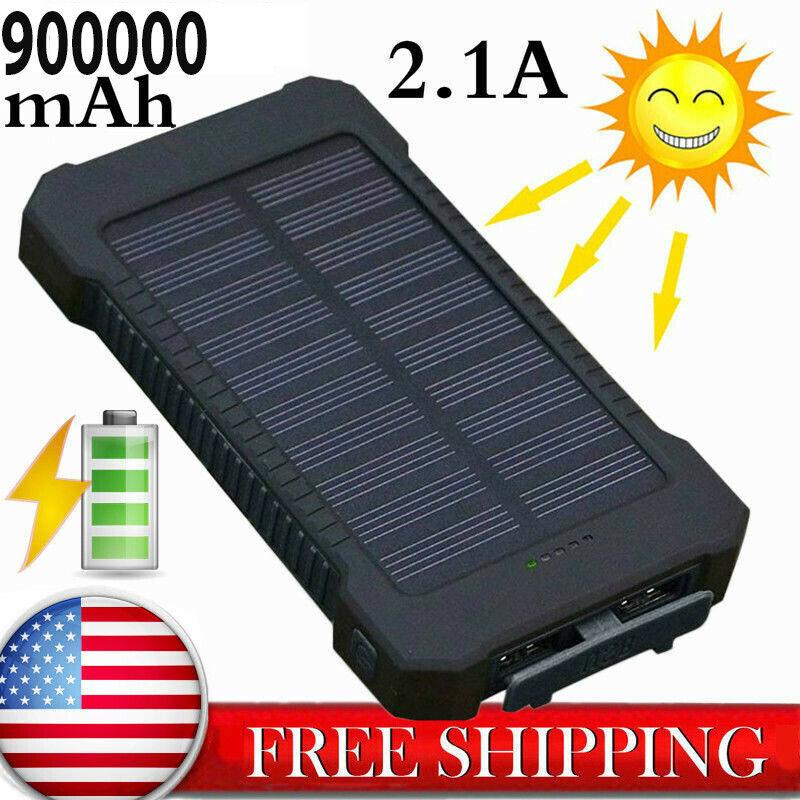 New Power Bank 900000mAh 2 USB Portable External Battery Hug