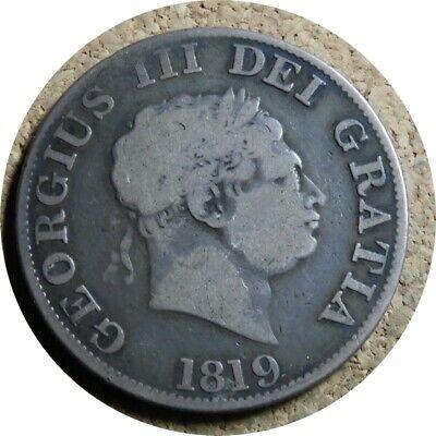 elf Great Britain Half Crown 1819 George III Reeded Edge