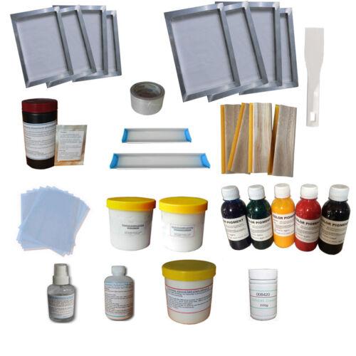 Screen Printing DIY Tools & Consumable Kit 4 Color Press Silk Screen Print