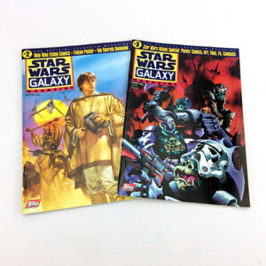 Lot 2 Star Wars Galaxy Magazine Vintage 1995 Official Lucasfilm