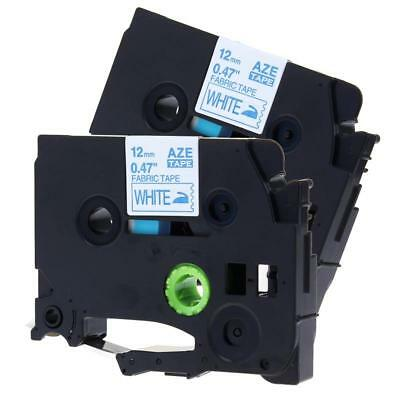 Tze-fa3 Tz-fa3 Compatible For Brother Fabric Iron P-touch 12mm Label Tape 2pk