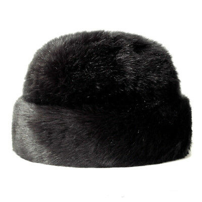 Cossack Hat Mens (US Mens Luxury Faux Marten Fur Russian Cossack Hat Ushanka Winter Warm)