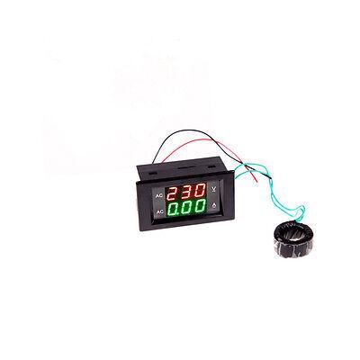 Digital Lcd Volt Ampere Amp Meter Voltmeter Dual Panel Guage Ac 100-300v200a