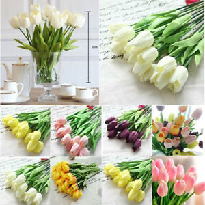 10pcs-Tulip-Artificial-Flower-Latex-Real-Touch-Bridal-Wedding-Bouquet-Home-Decor