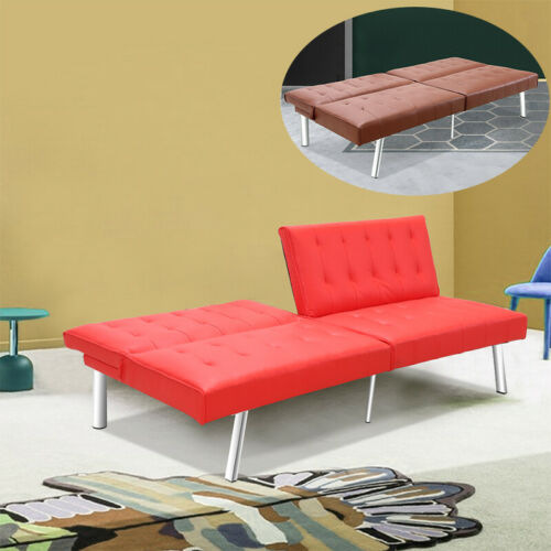 PU Leather Sofa Bed Sleeper Futon Couch Convertible Recliner