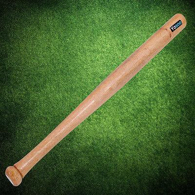 Baseballschläger Holz 64.5cm Naturfarbe Baseball Schläger Selbstverteidigung TOP
