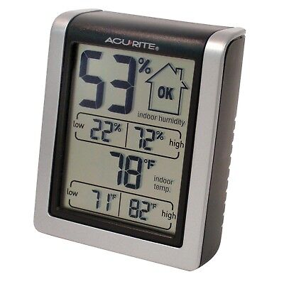 Indoor Humidity Monitor AcuRite 00613A1  - Free Shipping, New