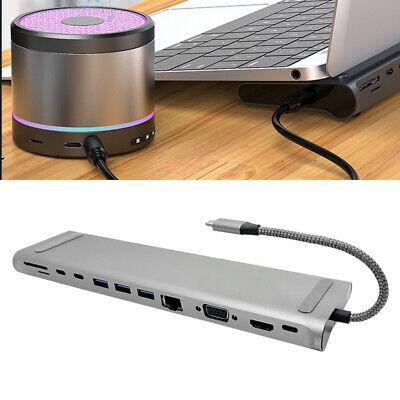 Full-featured 12 In 1 USB-C Type-C Docking Station Converter Aluminum Adapter