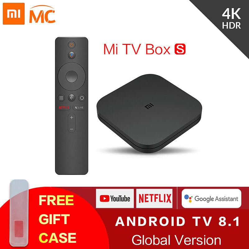 Original Global Xiaomi Mi TV Box S 4K HDR Android TV 8.1 Ult