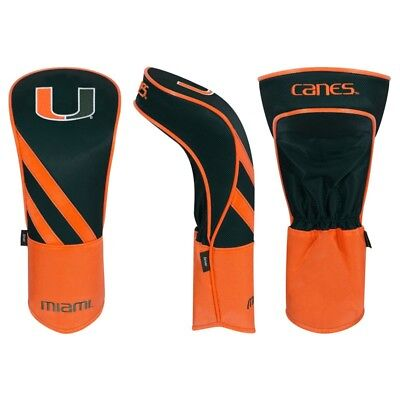MIAMI HURRICANES CANES EMBROIDERED DRIVER HEADCOVER INDIVIDUAL NEW WINCRAFT