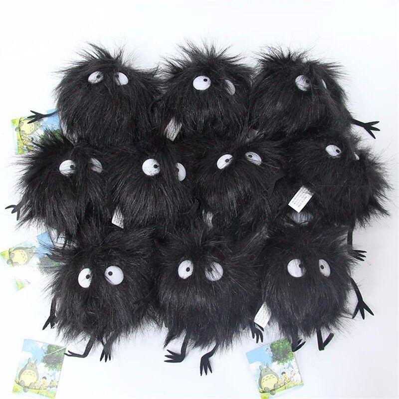 Studio Ghibli My Neighbor Totoro Dust Bunnies Soft Plush Keychain Toy Keyrings