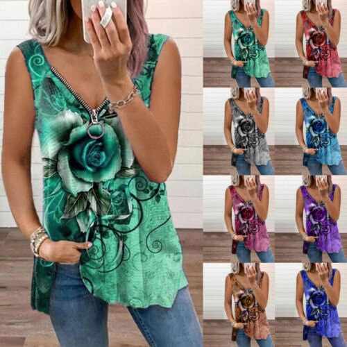 Women Sleeveless Bodycon Short Mini Dress Casual Floral Loose Sexy Sundress Clothing, Shoes & Accessories