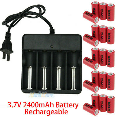 20Pcs CR123A 3.7V Li-Ion Rechargeable Batteries for Netgear Arlo Security Camera Camera Rechargeable Lithium Ion Batteries