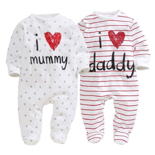 Bambino/bambina Tutina Body Bebè Neonato Bambini Completo Sonno Di Striscia Tute