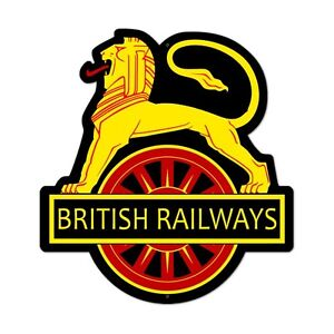 BRITISH RAILWAYS  colorful shaped metal sign 21x18
