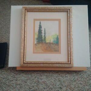 Original Watercolour Alpine scene BC artist