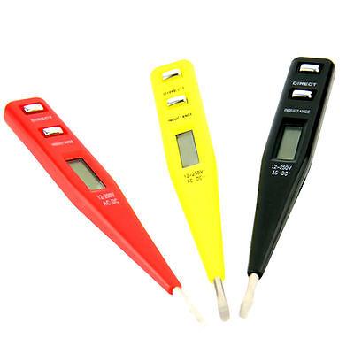 12V-250V AC DC Digital Electrical Tester Pen Voltage Inductance Detector NJ