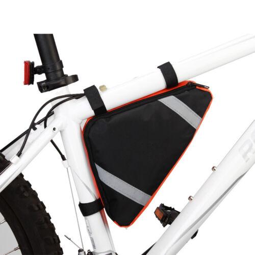 Bicycle MTB Bike Storage Bag Triangle Saddle Frame Strap-On