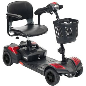 NEW Drive Spitfire Scout Deluxe 4 WHEEL Folding Mobility SCOOTER