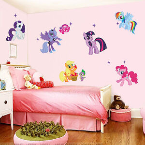 Wall Sticker Hot Cartoon My Little Pony Decals Kids Nursery Decor Removable