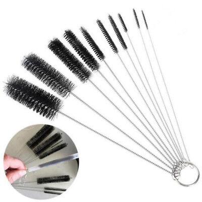 10pcs Household Bottle Brushes Pipe Bong Cleaner Glass Tube Cleaning Brush Set