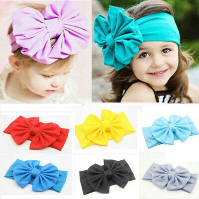 Girl Toddler Child Baby Bow Cute Hairband Headband Stretch Turban Knot Head Wrap ()