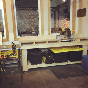 7 foot Mitre Saw Table (Excellent Condition)