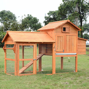 Deluxe Wood Chicken Coop Nesting Box Backyard Poultry Hen House