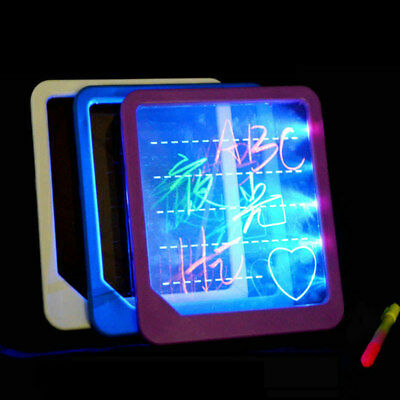 Childs Led Light Up Drawing Writing Board Special Needs Sensory Autism Kids Toys