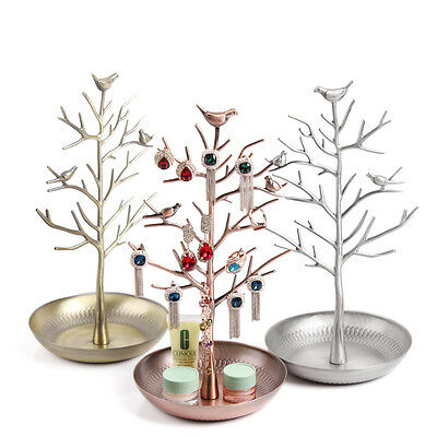 Birds Tree Jewelry Stand Display Earring Necklace Holder Organizer Rack Tower Us