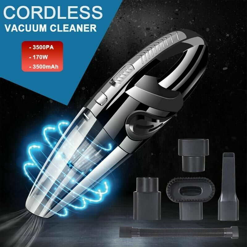 2020 Cordless Car Vacuum Cleaner Rechargeable Wet/Dry HEPA H