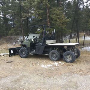 2010 Polaris Ranger 800 6x6 with snow blade and power steering