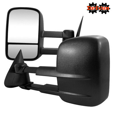 Manual Towing Extended Side Mirrors Fold In 97-03 Ford F150  Manual Extending Tow Mirrors