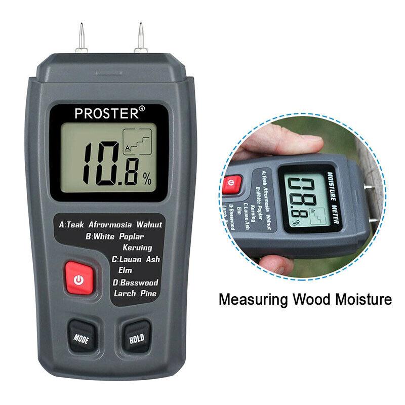 Digital LCD Wood Moisture Meter Detector Tester Wood Firewoo
