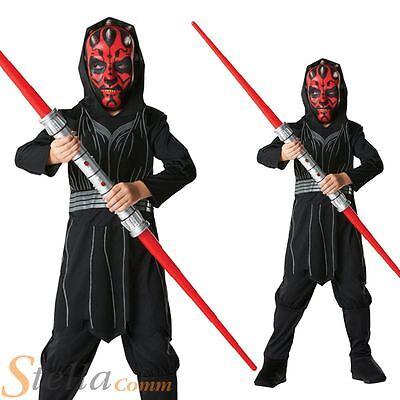 Boys Darth Maul Costume Star Wars Halloween Fancy Dress Child Outfit